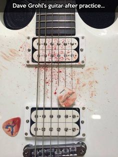 Dave Grohl�s guitar�