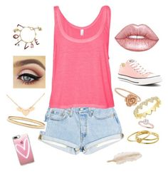 Daughter of Aphrodite free day by seymfam on Polyvore featuring polyvore, moda, style, B. Ella, Converse, Kate Spade, Anne Sisteron, Gorjana, Betsey Johnson, Casetify, L. Erickson, Lime Crime, fashion and clothing