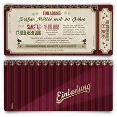 Einladungen - Theaterkarten