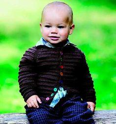 Brun trøje med retrillestriber http://www.hendesverden.dk/handarbejde/strik/Strik-til-drengene-i-familien/