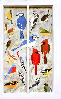 Scott Partridge painting - bird window 2
