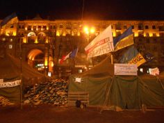 After protests in Maidan Nezalezhnosti, or Independence Square, the central square of Kiev, Ukraine's capital city.