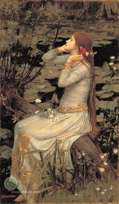 Ophelia (by the pond) John William Waterhouse #art #shakespeare #preraphaelite