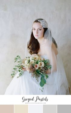 12 Stunning Color Palettes for a Spring Wedding - Chic Vintage Brides : Chic Vintage Brides Funny Wedding Photos, Vintage Wedding Photos, Vintage Weddings, Chic Wedding, Wedding Bride, Wedding Shot, Wedding Veils, Wedding Dresses, Wedding Bouquets