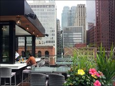 outdoor bar at The Chase restaurant, by Audax Architecture