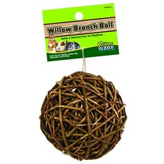 Ware Manufacturing Willow Branch Ball for Small Animals  4inch >>> To view further for this item, visit the image link.(This is an Amazon affiliate link and I receive a commission for the sales)