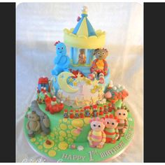 Amazing In the night garden cake by Carly's confectionary creations (on Facebook) 2nd Birthday Parties, Boy Birthday, Birthday Cakes, Birthday Ideas, Transformer Birthday, Garden Cakes, Night Garden, First Birthdays, Sweets