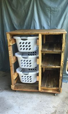 Laundry Basket Dresser (with shelves)                                                                                                                                                      More #woodworkingforbeginners