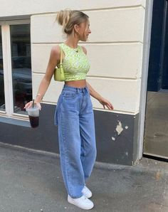 Indie Outfits, Teen Fashion Outfits, Retro Outfits, Cute Casual Outfits, Girl Outfits, Urban Fashion Girls, Modest Outfits, Aesthetic Fashion, Look Fashion