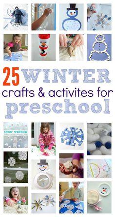 Winter crafts for preschoolers!