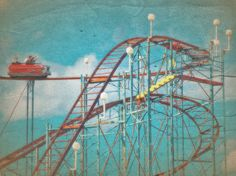 Rollercoaster Blue Sky 8x10 Photography by TerraVision on Etsy, $25.00