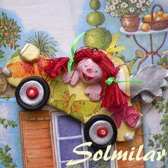 anioł z masy solnej Salt Dough, Rubrics, Decoupage, Folk, Christmas Ornaments, Holiday Decor, Home Decor, Art, Art Background