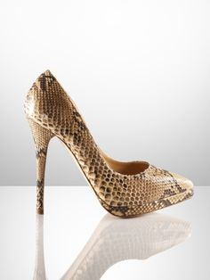 Celina Python Heel - Ralph Lauren Collection Collection Shoes - RalphLauren.com