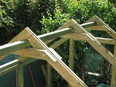 Home Decor - -Pergola Mosquito Netting GymWorkoutsForMen Product Roof Trusses, A Frame House, Roof Structure, Diy Shed, Building A Shed, Roof Design, Shed Plans, House In The Woods, Gazebo