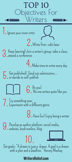 Top 10 Objectives For Writers