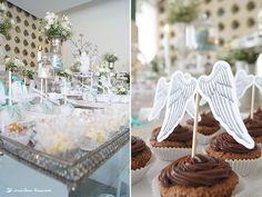 Lima Limão - festas com charme: Batizado do Santiago: asas de anjo!