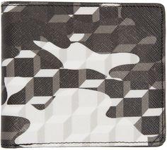 Pierre Hardy - Portefeuille à motif camouflage noir et blanc
