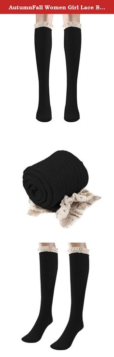 "AutumnFall Women Girl Lace Boot Cuffs Cotton Leg Warmer Long Tube Socks (Black). Feature: 100% Brand New And High Quality Material:Cotton For adult Color:Black,Beige,Gray,DarkGray,Coffee,Purple Item can keep warming, protect your legs It is very warm and the design is keep up with the fashion The necessary accessory for the winter season when you go outside Length:54cm/21.3"" Package Content: 1Pair Warmer Leg Sockings ."