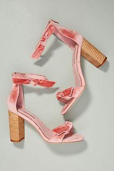 39e185b4da4b Jeffrey Campbell Velvet Bow Heeled Sandals Boho Shoes