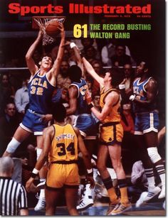 Bill Walton Signed Sports Illustrated MagazineBefore he was a star in the NBA Bill Walton was a star in UCLA. -áHe led the Bruins to-áback to back undefe I Love Basketball, Basketball Legends, College Basketball, Basketball Cards, Bill Walton, Sports Ilustrated, Si Cover, Sports Illustrated Covers, College Hoops