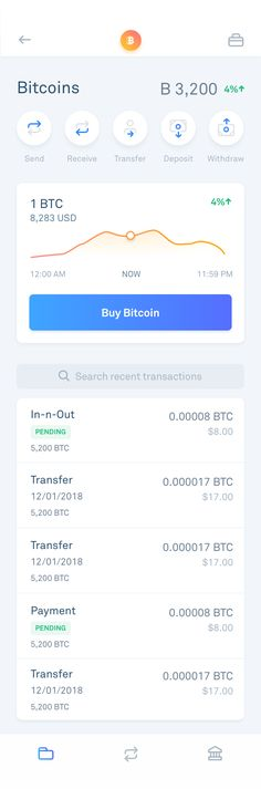 Bitcoin is a cryptocurrency and worldwide payment system.It is the first decentralized digital currency, as the system works without a central bank. Mobile Application Design, Mobile Ui Design, App Ui Design, Interface Design, User Interface, Mobile Ui Patterns, Minimal Web Design, App Design Inspiration, Mobile App Ui