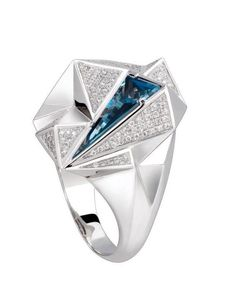 Carrera y Carrera blue topaz and diamond ring Eternity Ring Diamond, Diamond Wedding Bands, Jewelry Rings, Fine Jewelry, Titanic Jewelry, Sterling Silver Mens Rings, Jewelry Collection, Rings For Men, Gemstones