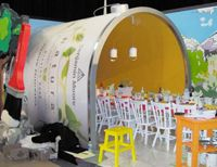 Giant paint can #tradeshow #design #DIFFA #booth