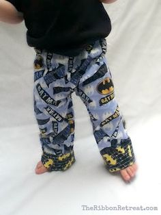 Pajama Pants Tutorial - {The Ribbon Retreat Blog} pj pants, any size, diy pattern, quick & easy cuff