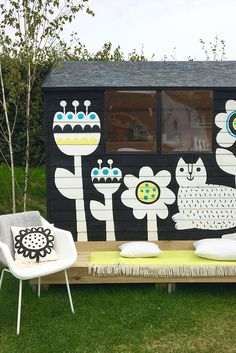 Inspired by Cuprinol's Shed of the Year, children's illustrator Jane Foster started her shed with a pencil sketch. It's now a centrepiece in her garden!