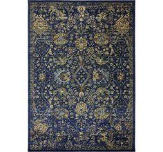 Indigo rug from Karastan. Good prices according to House Beautiful.