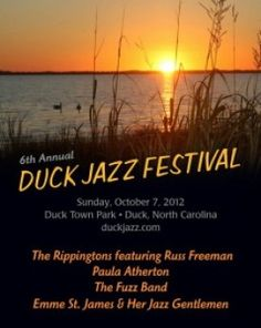 Atlantic's #Fall events page, including the #Duck Jazz Festival, #Sunday, October 7th