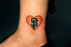 SF Giants love. If I ever got a tattoo this might be it.