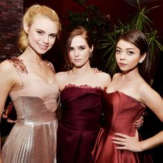 Celebrity Parties: January 31 to February 6, 2014 - Lucy Fry, Zoey Deutch and Sarah Hyland from #InStyle
