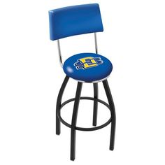 "South Dakota State Jackrabbits 25"" Black Wrinkle Swivel Bar Stool with Back - $169.00"