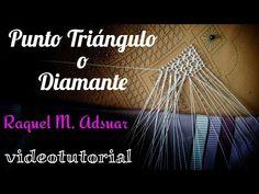 Punto de Triángulo o Diamante. Encaje de Bolillos (nivel intermedio) - YouTube