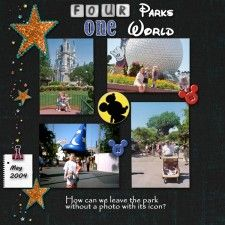 Four Parks One World - Mousescrappers.com
