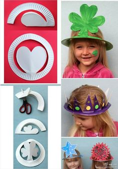 DIY party crowns/ hats. This is fun!