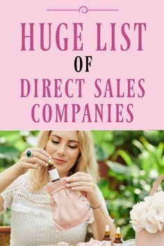 Huge List of Direct Sales Companies Direct Sales Companies, Direct Selling, Nice Body, Great Grandparents, Wagon Wheel, Business Opportunities