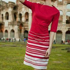 Shabby Apple Red&White Cotton Dress