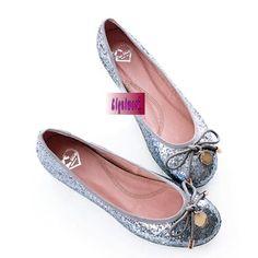 Metallic Blue Sequin Flat Wedding Bridal Evening Party Shoes Flats Buy SKU-1090511
