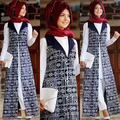 new styled hijabs Islamic Fashion, Muslim Fashion, Modest Fashion, Fashion Outfits, Womens Fashion, Hijab Dress, Hijab Outfit, Modele Hijab, Matches Fashion