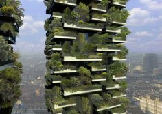 The world's first vertical forest is under construction in Milan