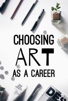 Choosing Art As a Career · SemiSkimmedMin #artpainting