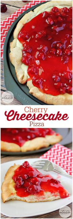 Cherry Cheesecake Pizza – sink your tooth right into a creamy cheesecake layer adopted by candy cherry filling. Unique Desserts, Mini Desserts, Easy Desserts, Dessert Recipes, Plated Desserts, Pizza Dessert, Pizza Fruit, Fruit Fruit, Pizza Food