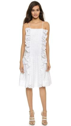 Just Cavalli Eyelet Ruffle Dress