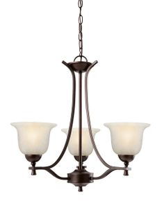 Design House 517557 Ironwood Brushed Bronze 3-Light Chandelier