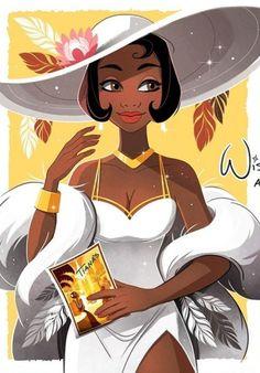 Disney Artwork, Disney Princess Art, Disney Fan Art, Disney Drawings, Disney Princesses, Princess Tiana, Disney Pixar, Dope Cartoon Art, Black Cartoon