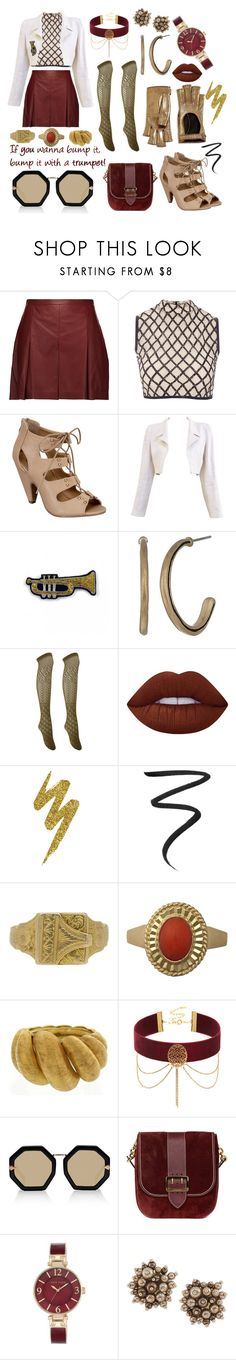 """""""Miss Mazeppa"""" by attendthetale ❤ liked on Polyvore featuring Proenza Schouler, Rare London, Top Moda, Chanel, Macon & Lesquoy, The Sak, Charlotte Russe, Lime Crime, Urban Decay and Eyeko"""