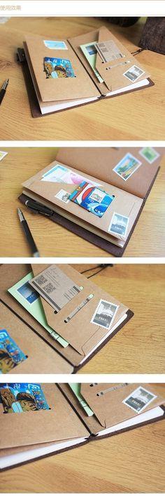 Durable Kraft Paper Pocket by MyWriteStuff on Etsy