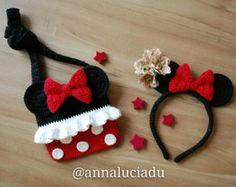 Crochet Minnie mouse crochet bags crochet purse Minnie